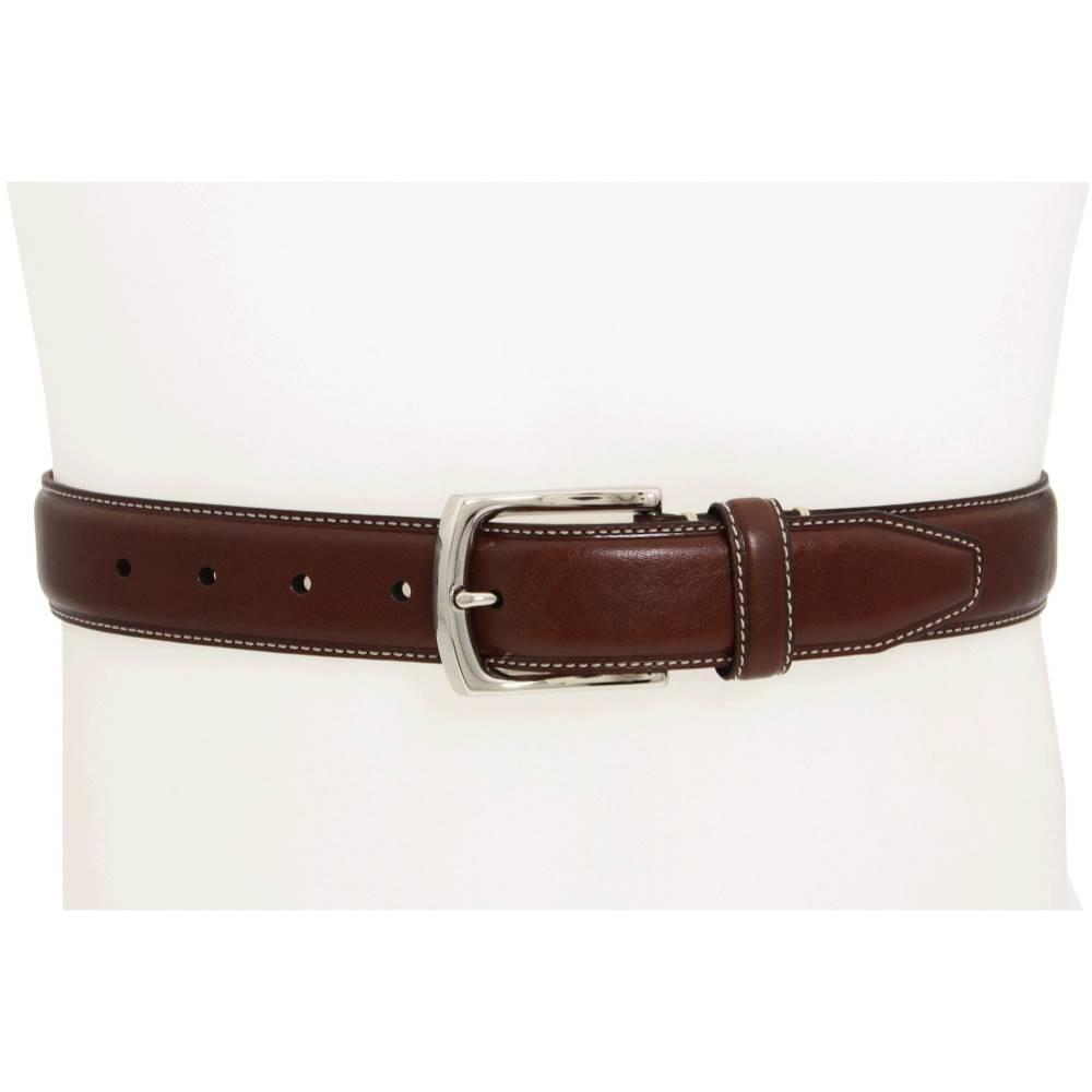 ジョンストン&マーフィー メンズ ファッション小物 ベルト【Topstitched Belt】Dark Brown