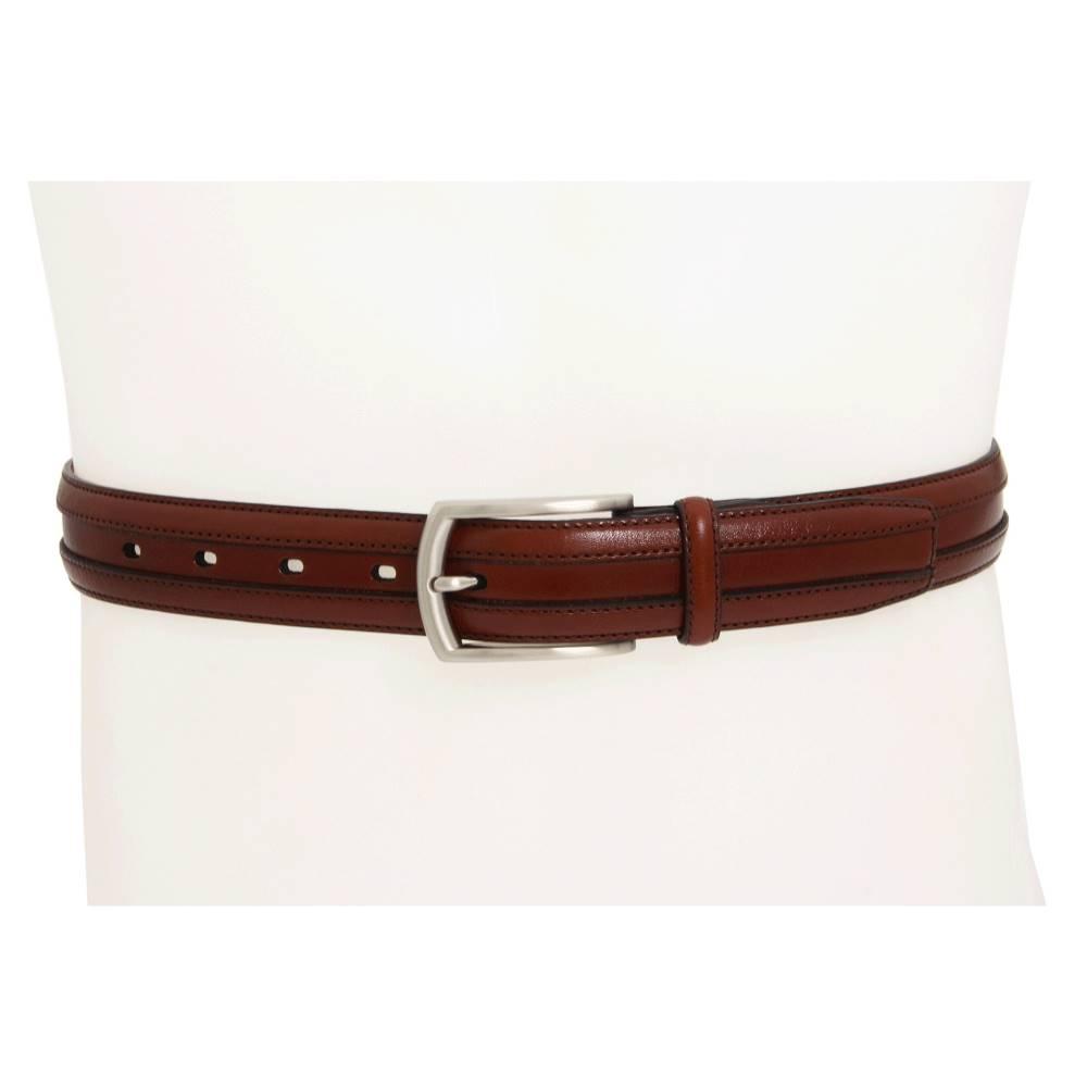 ジョンストン&マーフィー メンズ ファッション小物 ベルト【Double Calf Belt】Chestnut
