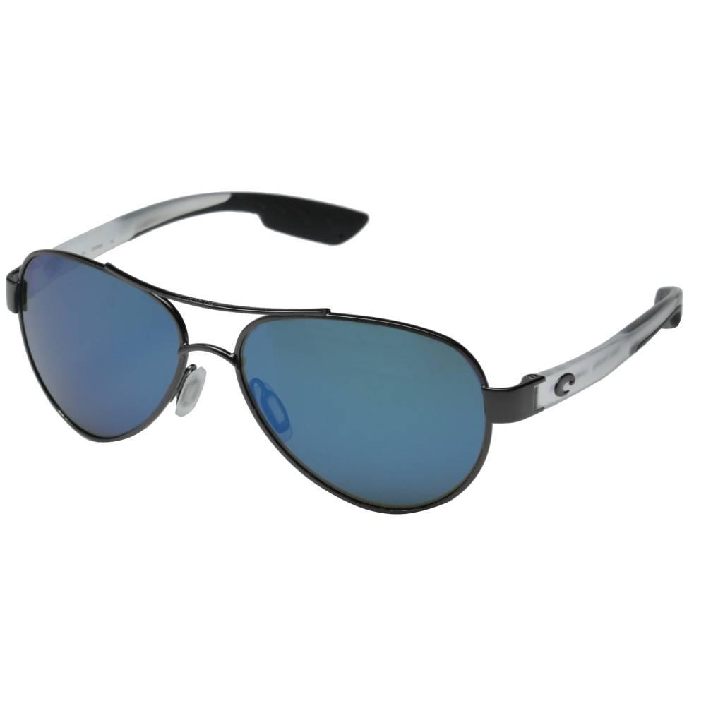 コスタ レディース ファッション小物 スポーツサングラス【Costa Loreto 580 Mirror Glass】Gunmetal/Crystal Temples/Blue Mirror 580 Glass Lens