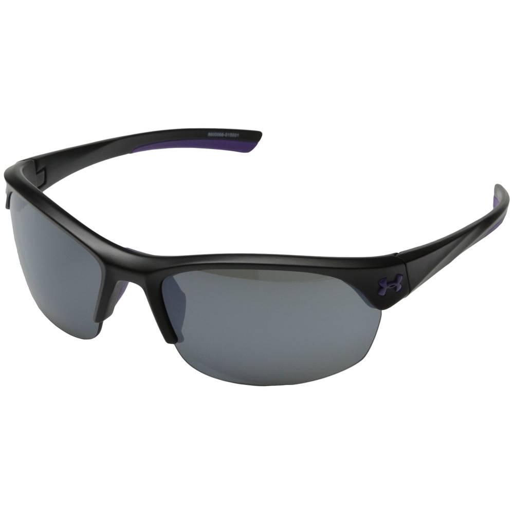 アンダーアーマー レディース ファッション小物 スポーツサングラス【UA Marbella】Satin Black/Violet Frame/Gray/Multiflection Lens