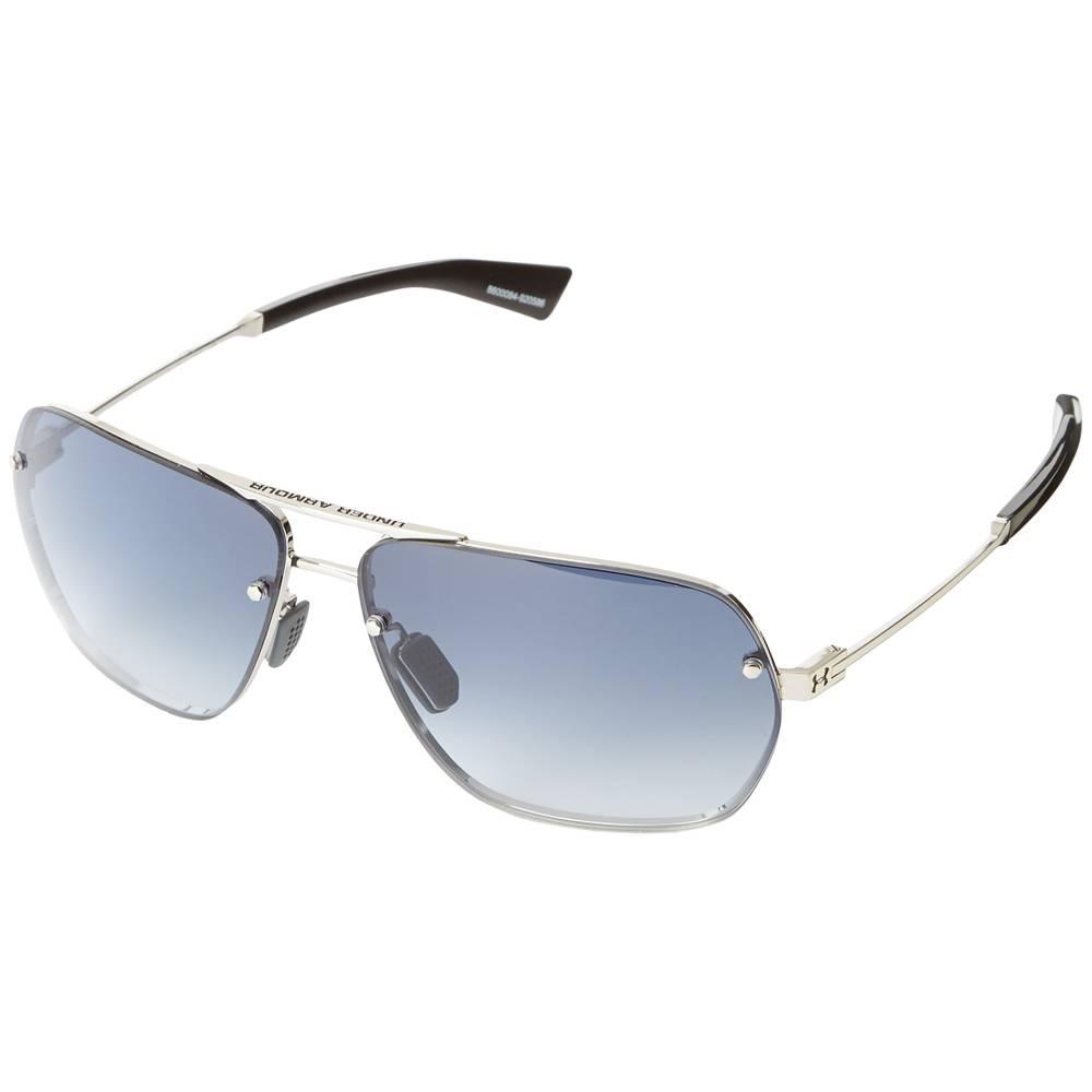 アンダーアーマー メンズ ファッション小物 スポーツサングラス【Hi-Roll】Shiny Silver/Shiny Carbon Frame/Blue Gradient Lens