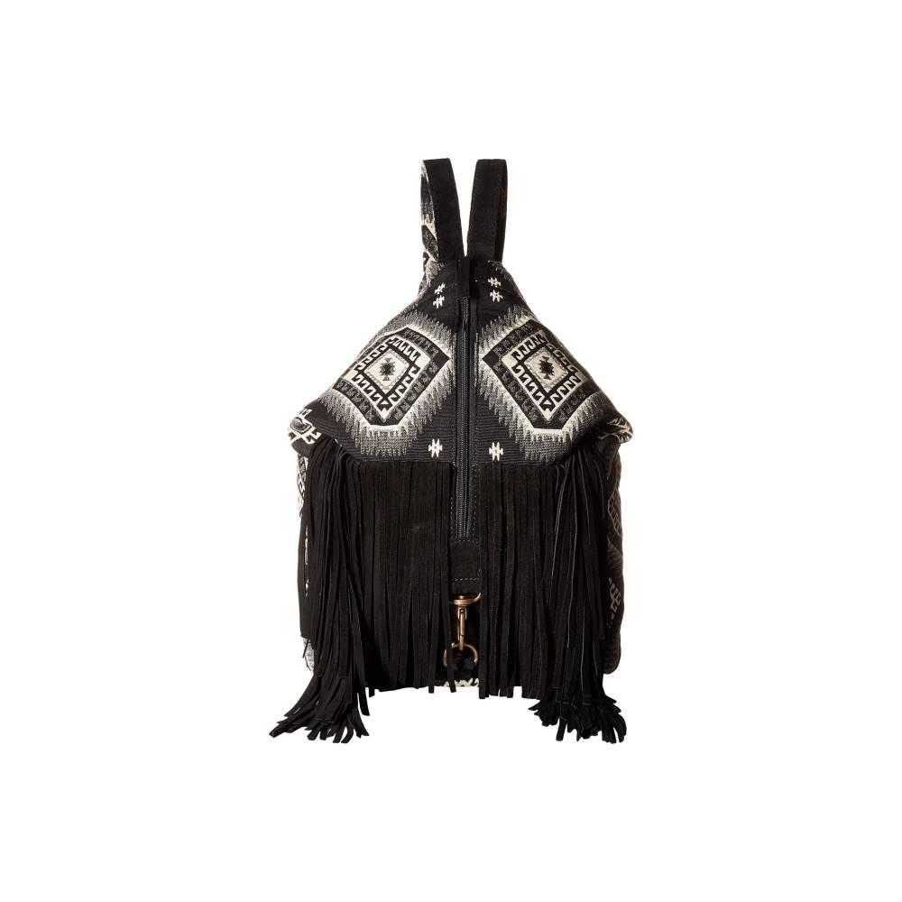 スカーリー レディース バッグ バックパック・リュック【Kali Fringe Handbag】Black/White
