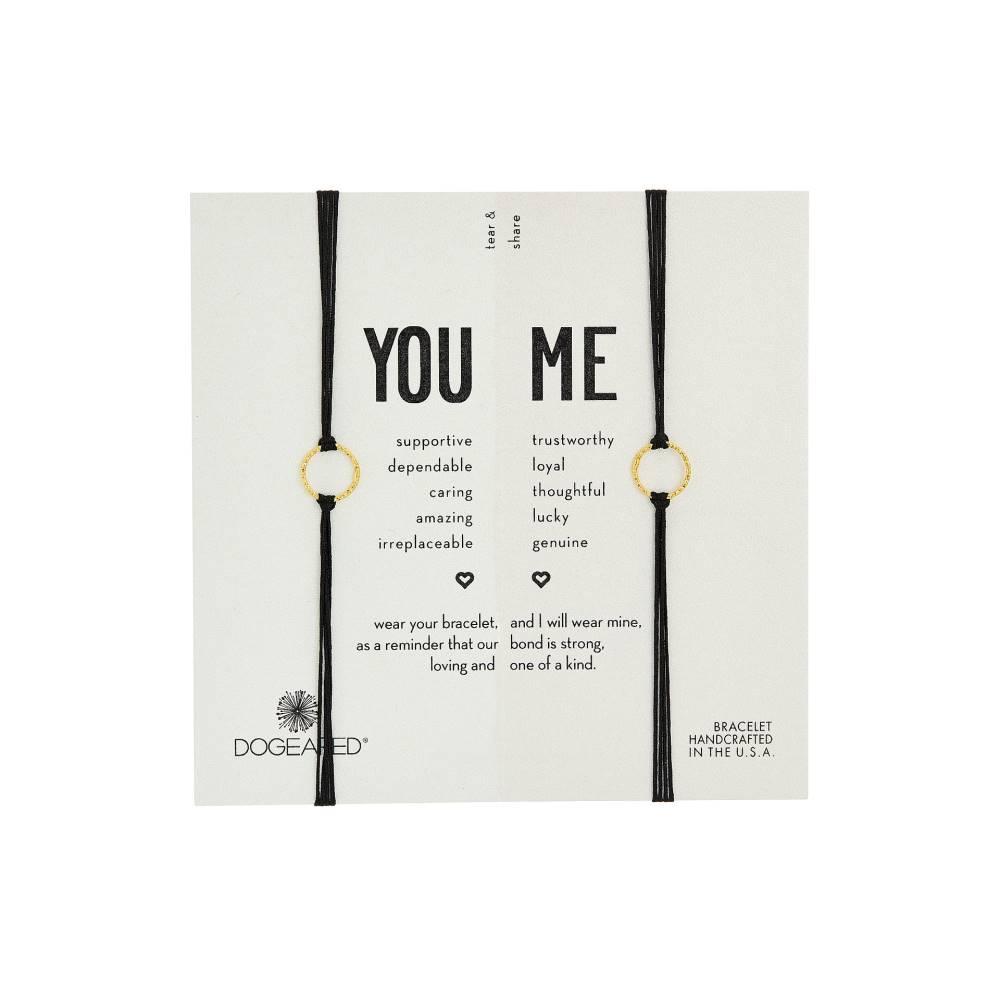 ドギャード レディース ジュエリー・アクセサリー ブレスレット【Friendship Sparkle Ring Bracelet Set】Gold Dipped/Black