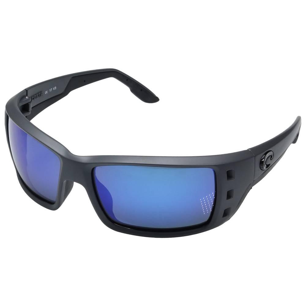 コスタ メンズ ファッション小物 スポーツサングラス【Permit】Matte Gray Frame/Blue Mirror Glass W580