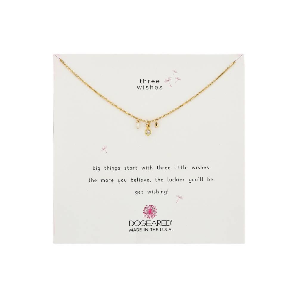 ドギャード レディース ジュエリー・アクセサリー ネックレス【Three Wishes Cluster Necklace】Gold Dipped