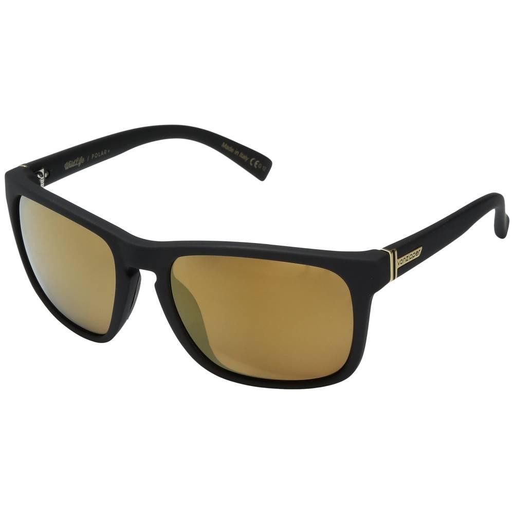 ボンジッパー メンズ ファッション小物 スポーツサングラス【Lomax Polar】Black Satin/Wild Gold Flash Polar Plus