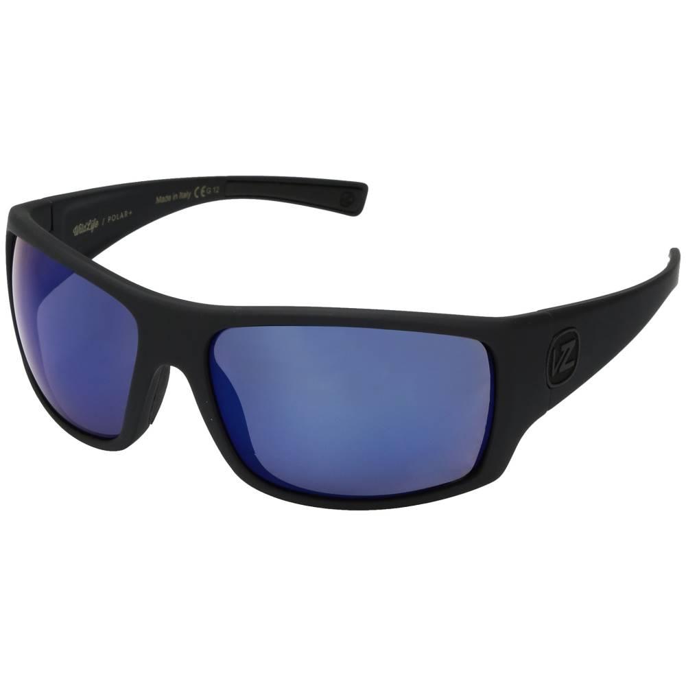 ボンジッパー メンズ ファッション小物 スポーツサングラス【Suplex Polarized】Black Satin/Wild Blue Flash Polar Plus