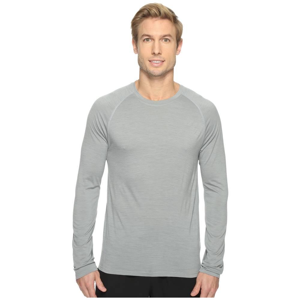 スマートウール メンズ トップス Tシャツ【Merino 150 Baselayer Pattern Long Sleeve】Light Gray