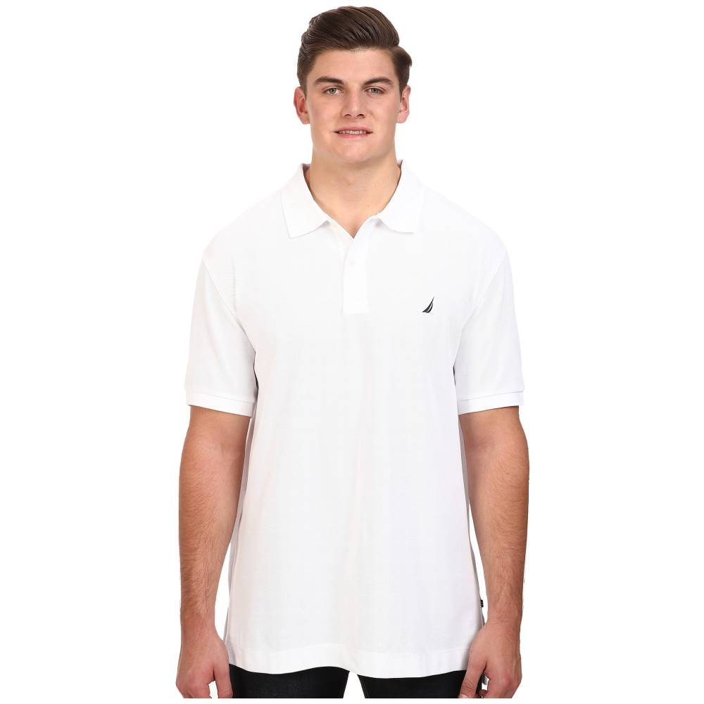ノーティカ メンズ トップス ポロシャツ【Big & Tall Anchor Solid Deck Shirt】Bright White