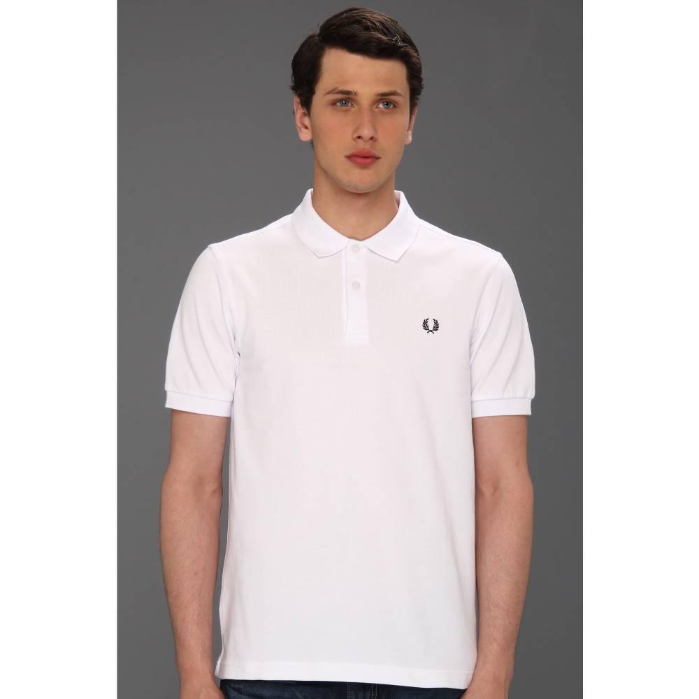 フレッドペリー メンズ トップス ポロシャツ【Slim Fit Solid Plain Polo】White