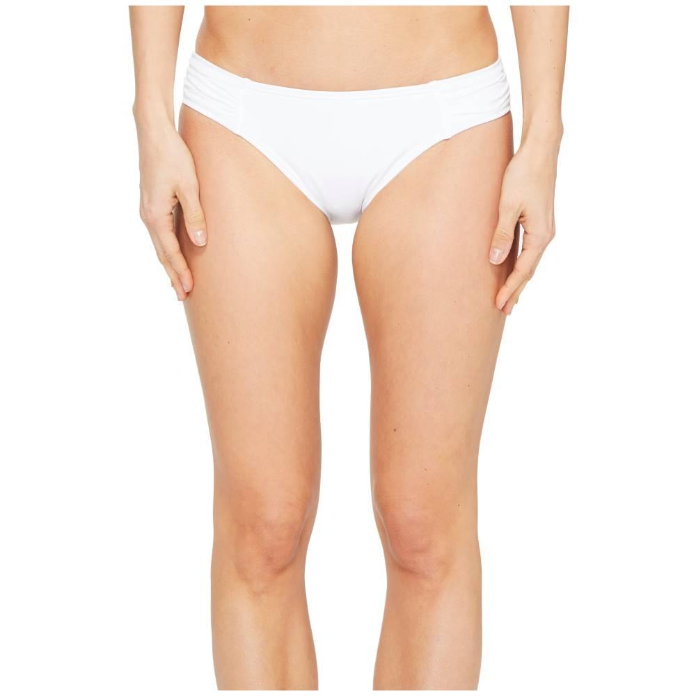 トミー バハマ レディース 水着・ビーチウェア ボトムのみ【Pearl Side-Shirred Hipster Bikini Bottom】White