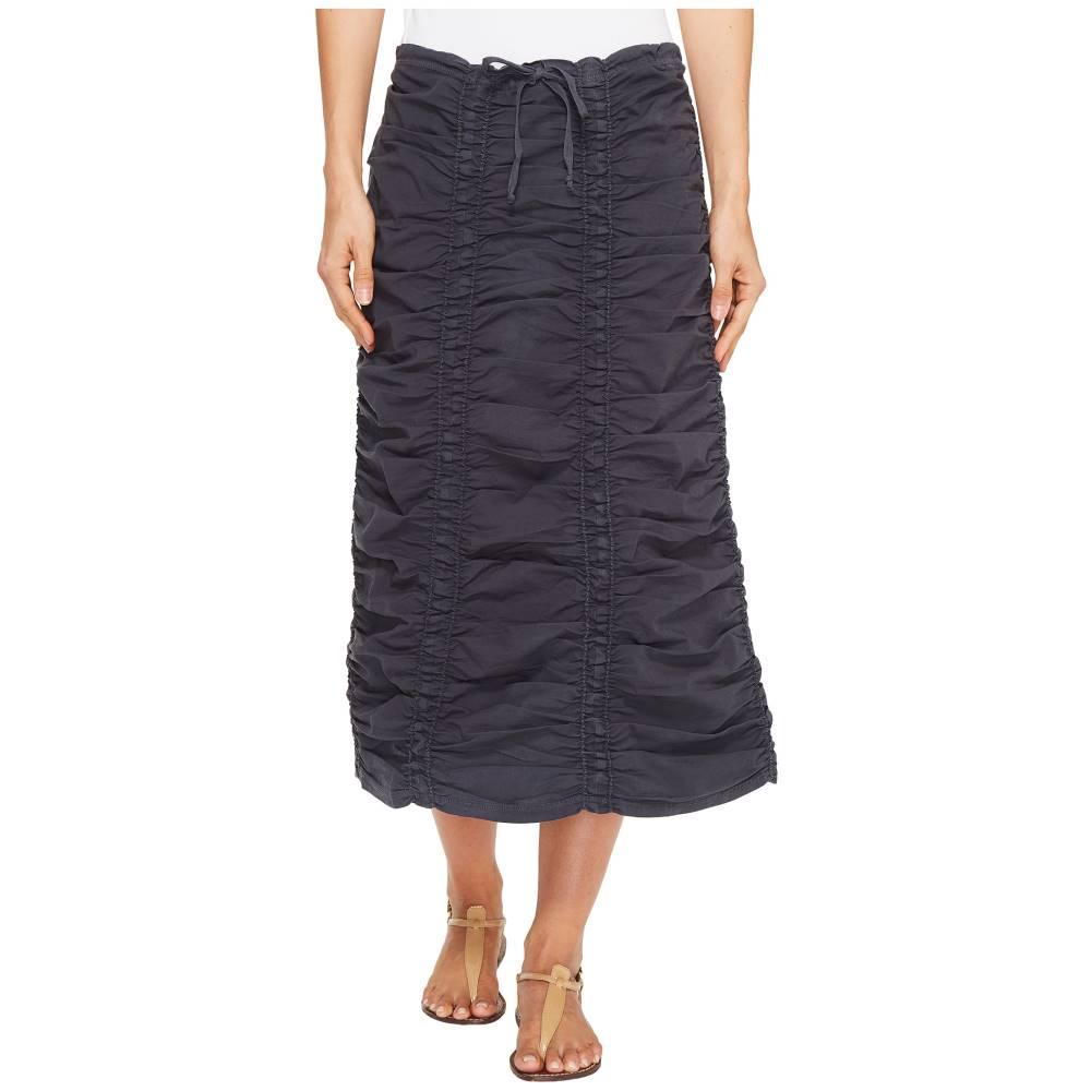 XCVI レディース スカート【Stretch Poplin Double Shirred Panel Skirt】Charcoal