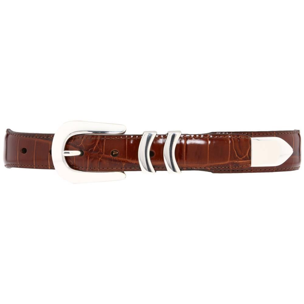 ブライトン メンズ ファッション小物 ベルト【Catera Croco Taper Belt】Peanut