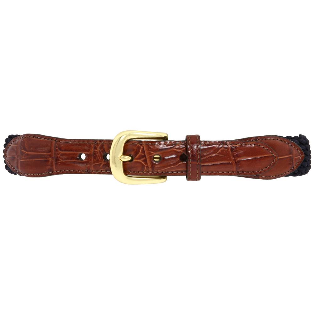 ブライトン メンズ ファッション小物 ベルト【Elastic Cord Croco Tab Taper Belt】Navy