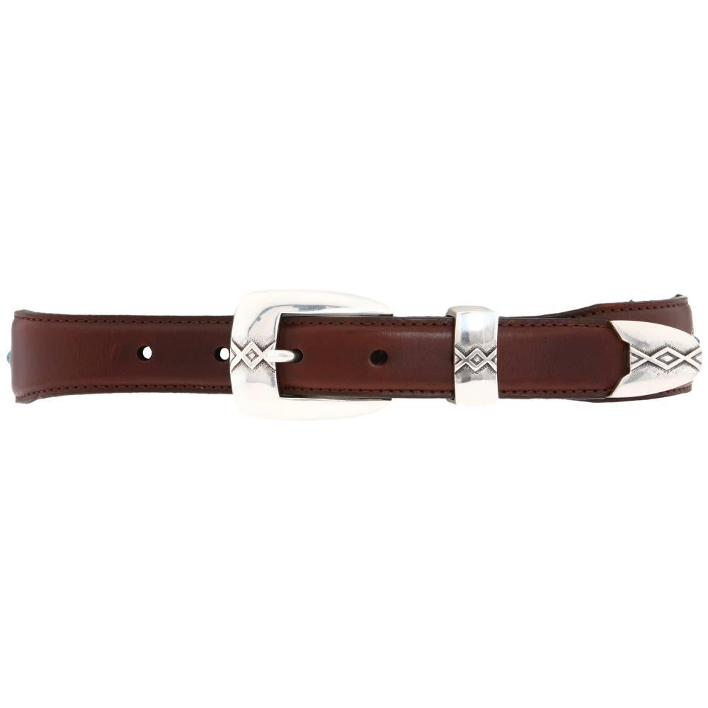 ブライトン メンズ ファッション小物 ベルト【Cody Turquoise Taper Belt】Brown/Black