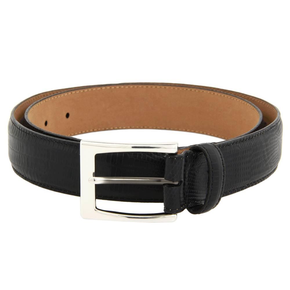 ブライトン メンズ ファッション小物 ベルト【Toledo Lizard Belt】Black
