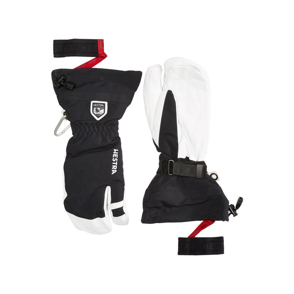 ヘスタ メンズ スキー・スノーボード グローブ【Army Leather Heli Ski 3-Finger】Black