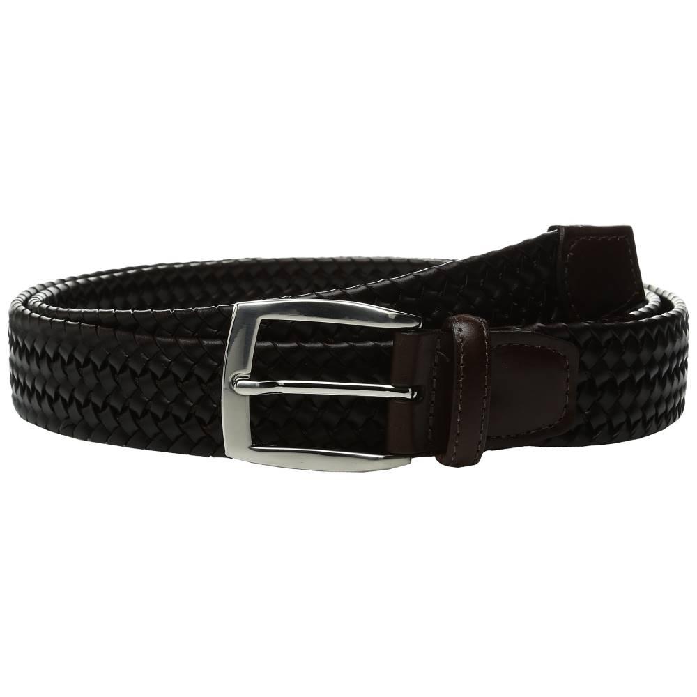トリノレザー メンズ ファッション小物 ベルト【35mm Italian Woven Stretch Leather】Brown