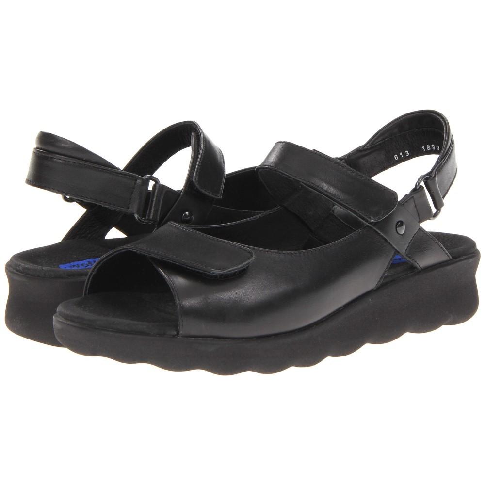 ウォーキー レディース シューズ・靴 サンダル・ミュール【Pichu】Black Leather