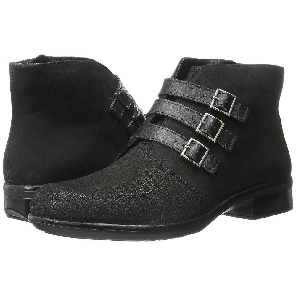 ナオトフットウェアー レディース シューズ・靴 ブーツ【Calima】Black Crackle Leather/Black Velvet Nubuck/Black Raven Leather