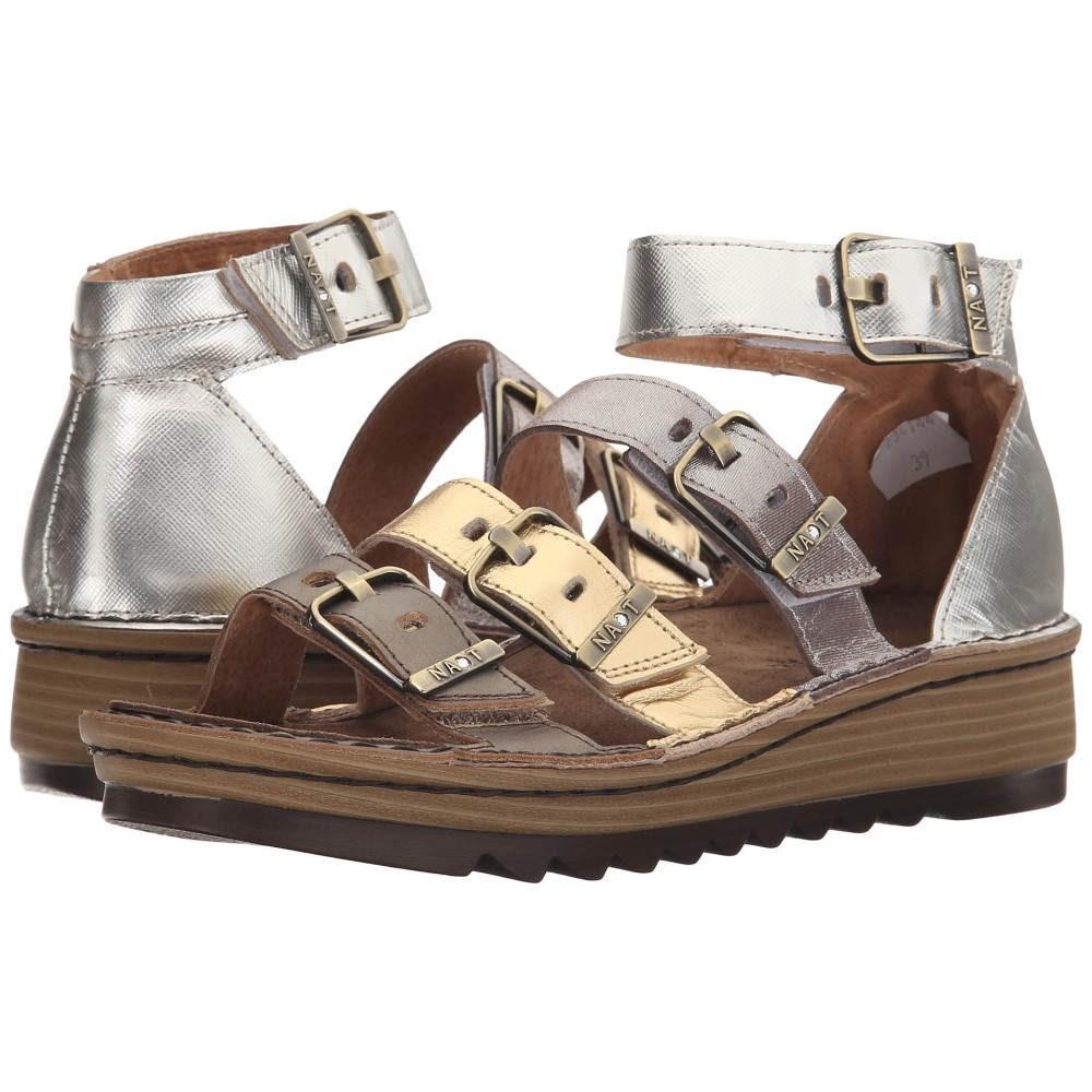 ナオトフットウェアー レディース シューズ・靴 サンダル・ミュール【Begonia】Pewter Leather/Gold Leather/Satin Gold Leather/Silver Luster