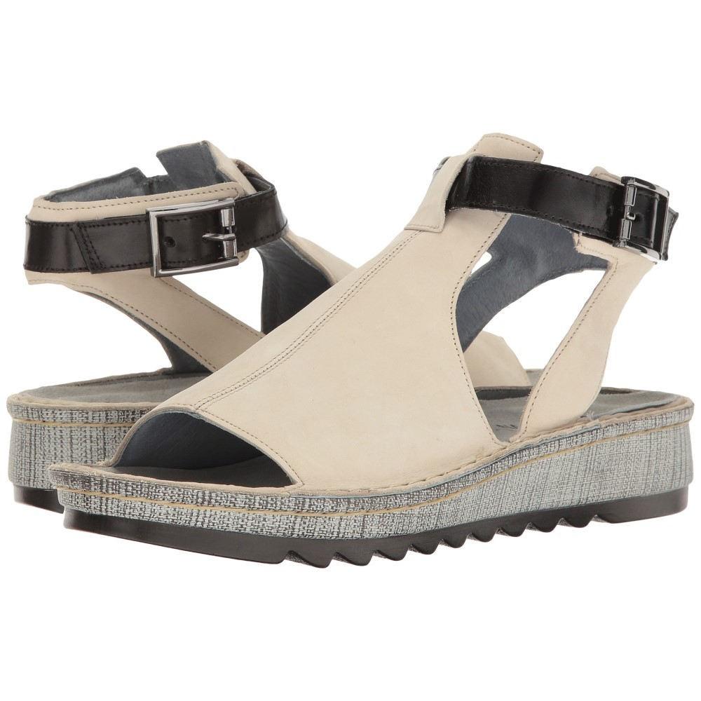 ナオトフットウェアー レディース シューズ・靴 サンダル・ミュール【Verbena】Beige Nubuck/Black Madras Leather