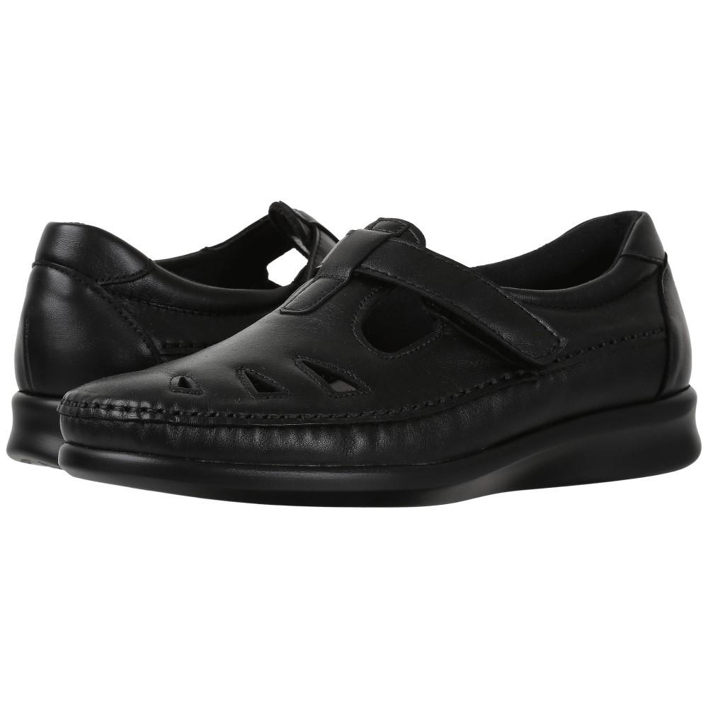 サス レディース シューズ・靴 スリッポン・フラット【Roamer】Black