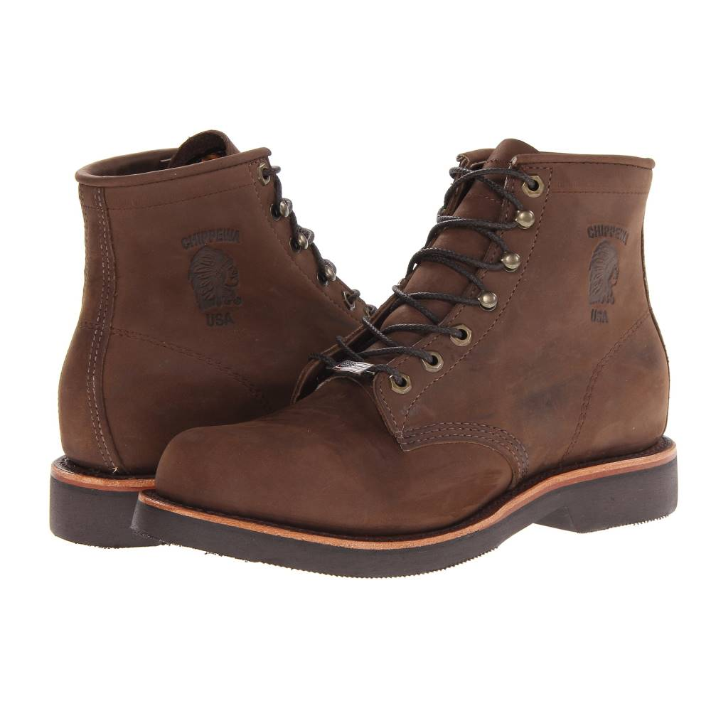 チペワ メンズ シューズ・靴 ブーツ【American Handcrafted GQ Apache Lacer Boot】Brown