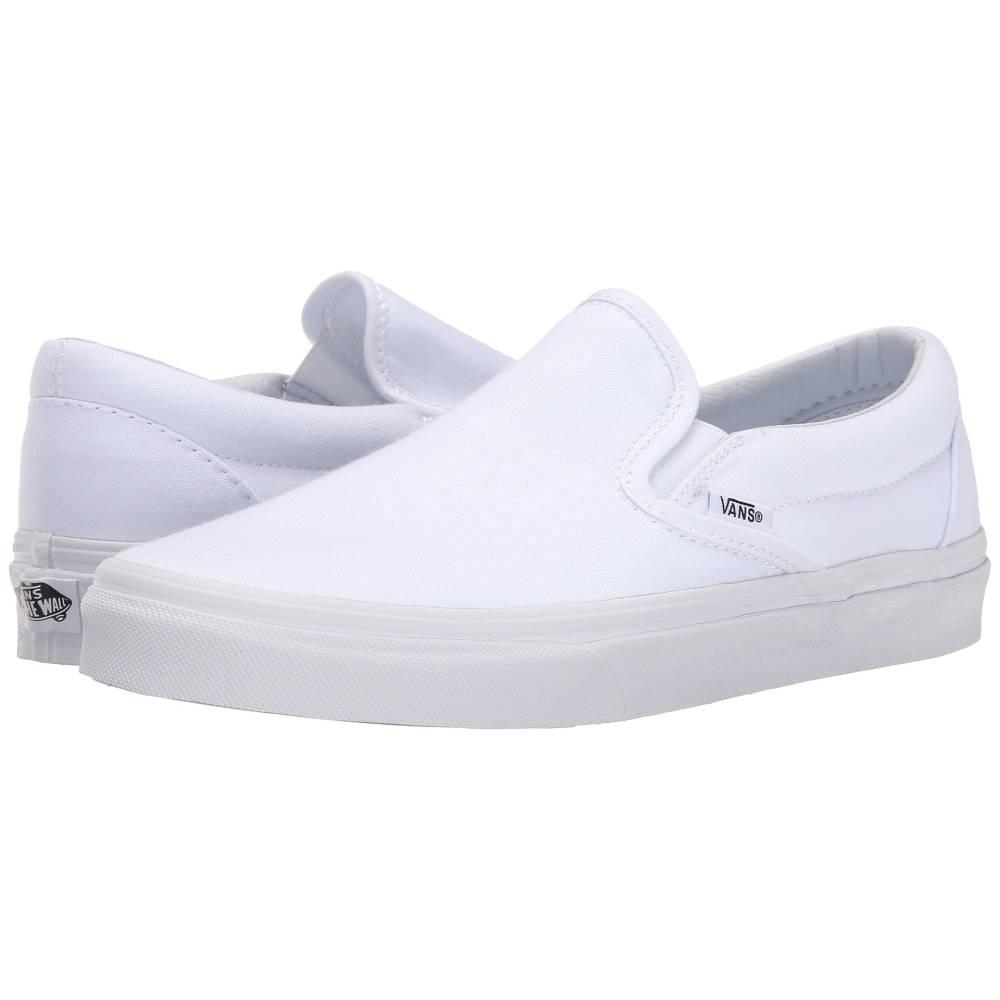 ヴァンズ メンズ シューズ 靴 AL完売しました スリッポン フラット True White 購買 Vans Classic サイズ交換無料 Slip-On Classics TM Core Canvas