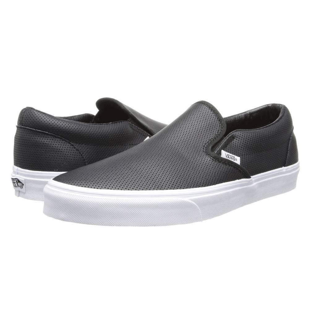ヴァンズ メンズ シューズ・靴 スリッポン・フラット (Perf Leather) Black 【サイズ交換無料】 ヴァンズ メンズ シューズ・靴 スリッポン・フラット【Classic Slip-On' Core Classics】(Perf Leather) Black