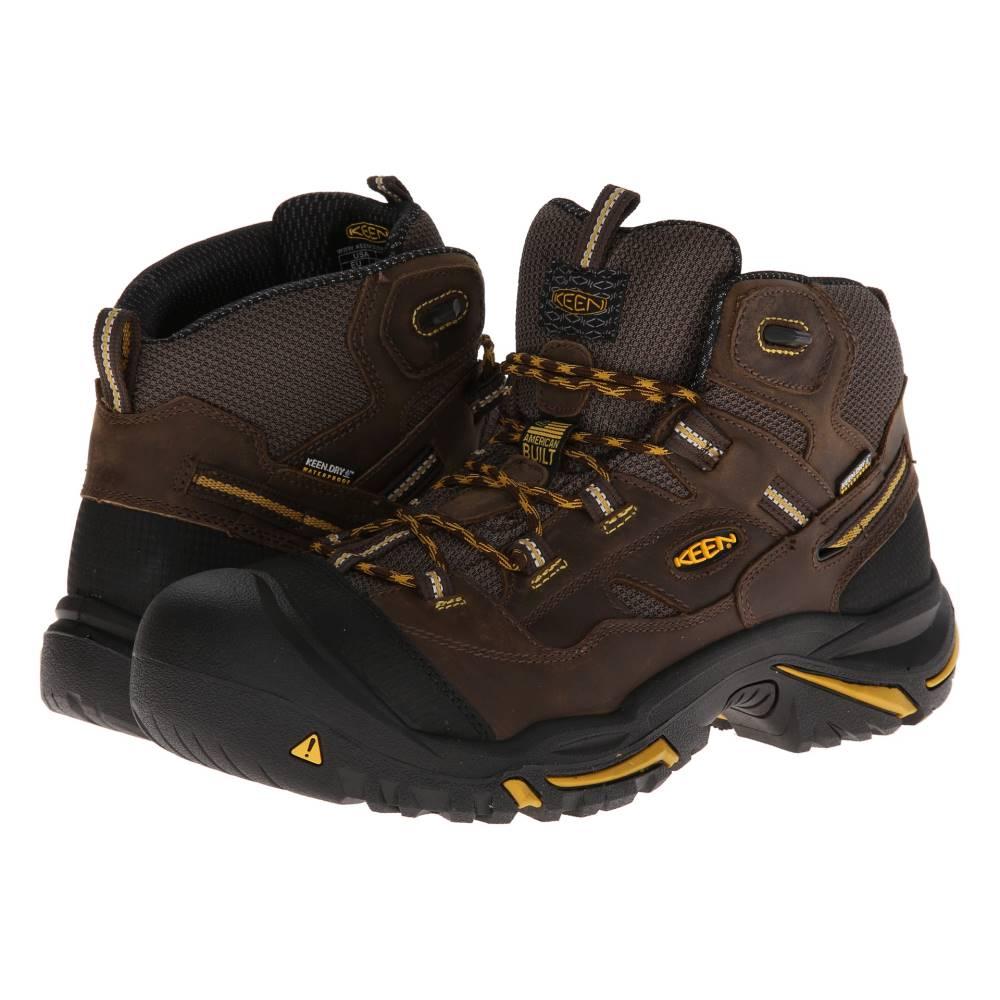 キーン メンズ シューズ・靴 ブーツ【Braddock Mid WP】Cascade Brown/Tawny Olive