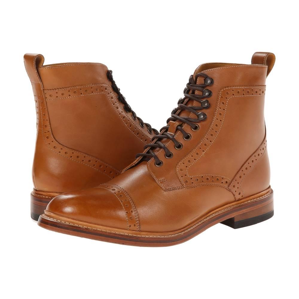 ステイシー アダムス メンズ シューズ・靴 ブーツ【Madison II】Tan Smooth Leather