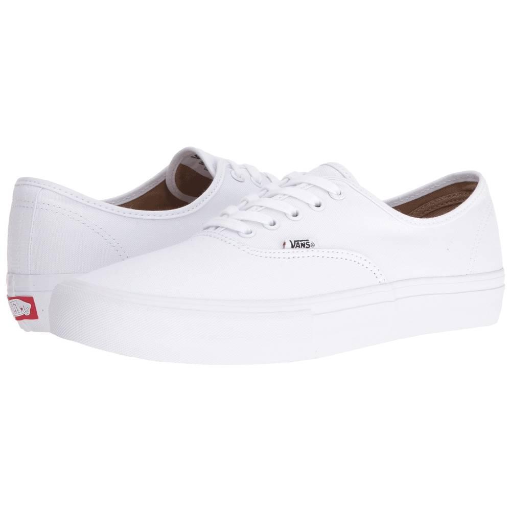 ヴァンズ メンズ シューズ・靴 スニーカー【Authentic' Pro】True White/True White