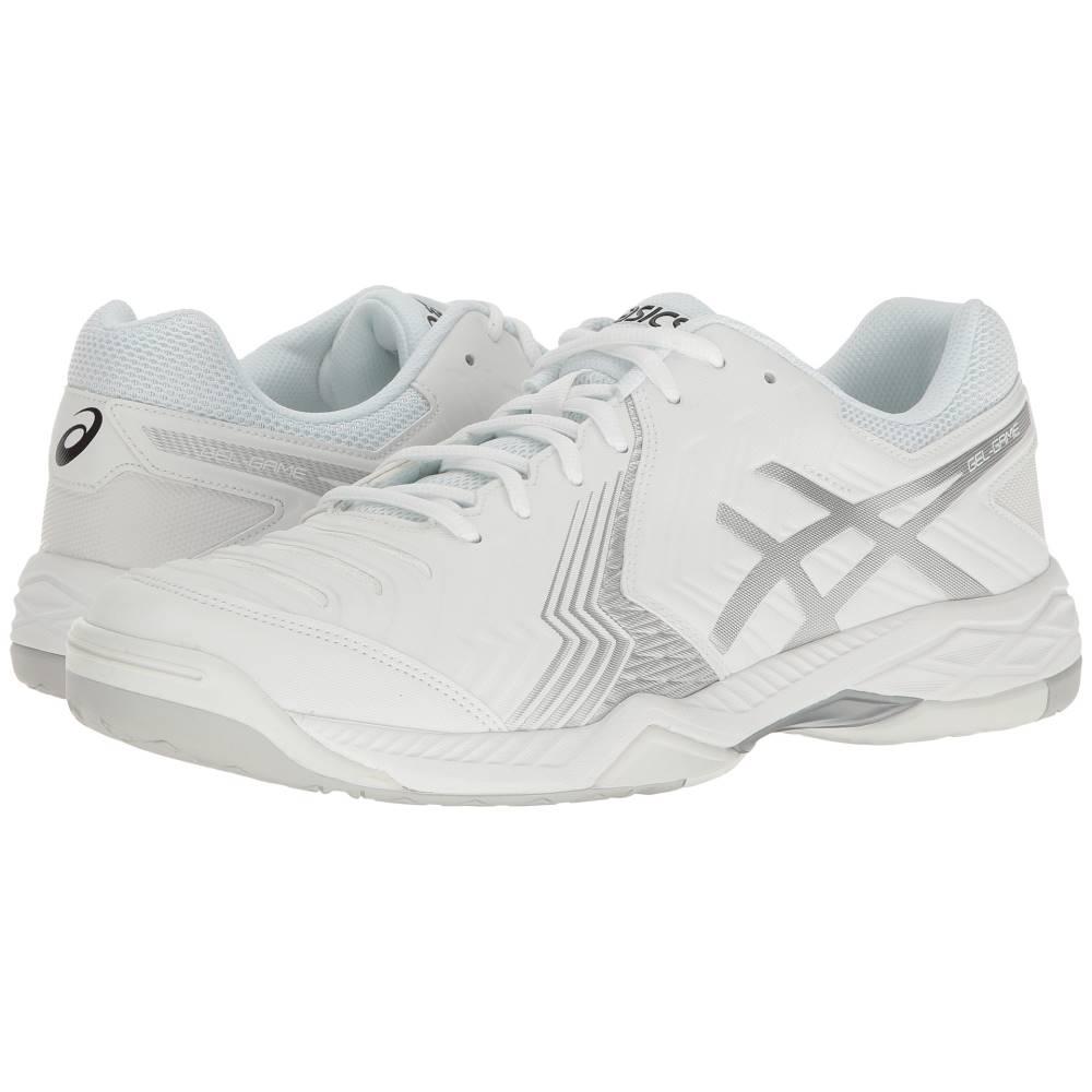 アシックス メンズ テニス シューズ・靴【Gel-Game 6】White/Silver