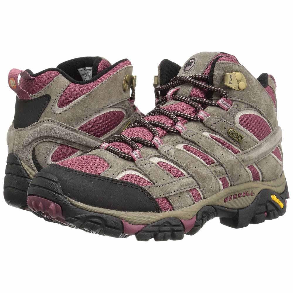 メレル レディース ハイキング・登山 シューズ・靴【Moab 2 Mid Waterproof】Boulder/Blush