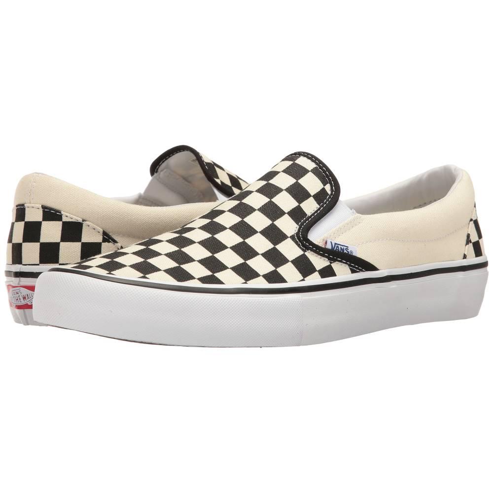 ヴァンズ メンズ シューズ・靴 スリッポン・フラット【Slip-On Pro】(Checkerboard) Black/White