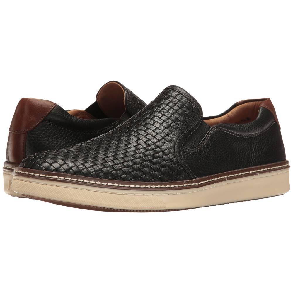 ジョンストン&マーフィー メンズ シューズ・靴 スリッポン・フラット【McGuffey Slip-On】Black Full Grain