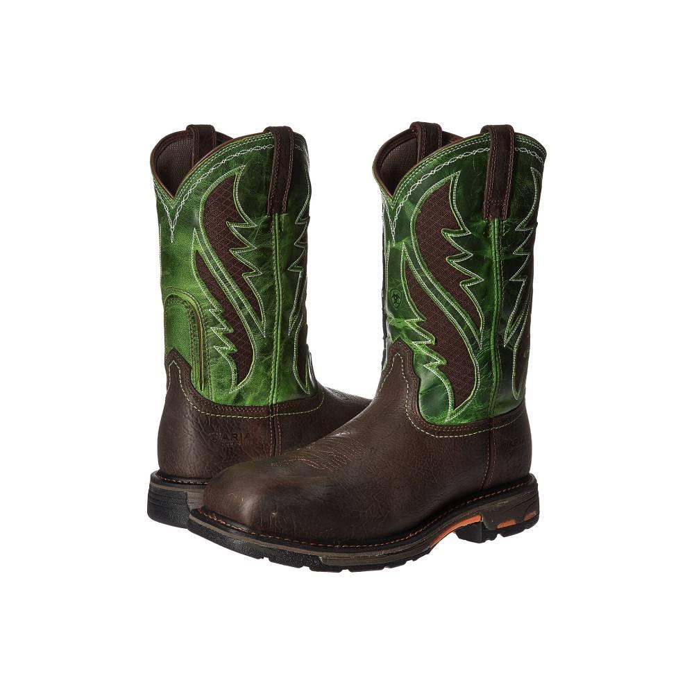 アリアト メンズ シューズ・靴 ブーツ【Workhog WST Venttek CT】Bruin Brown/Grass Green