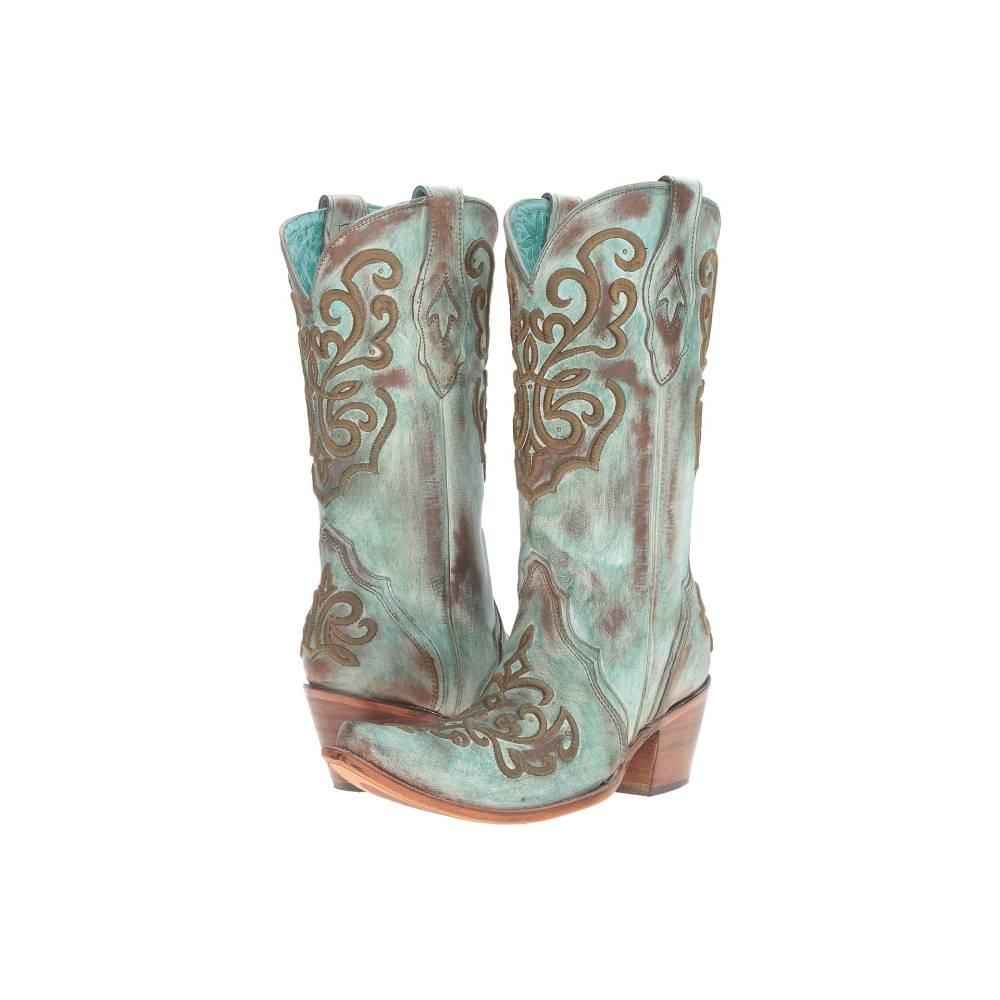 コラル レディース シューズ・靴 ブーツ【C2990】Tan/Turquoise