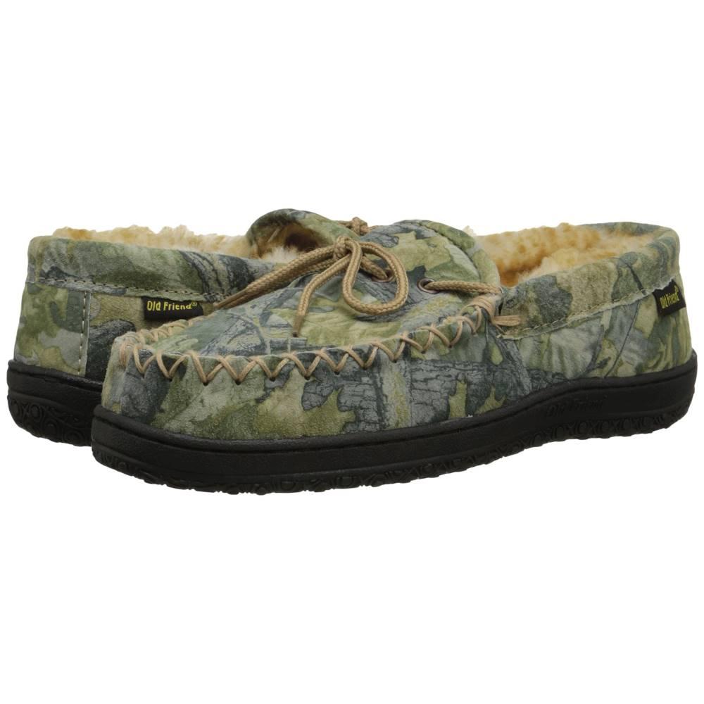 オールドフレンド メンズ シューズ・靴 ローファー【Camouflage Moccasin】Camouflage W/Stony Fleece