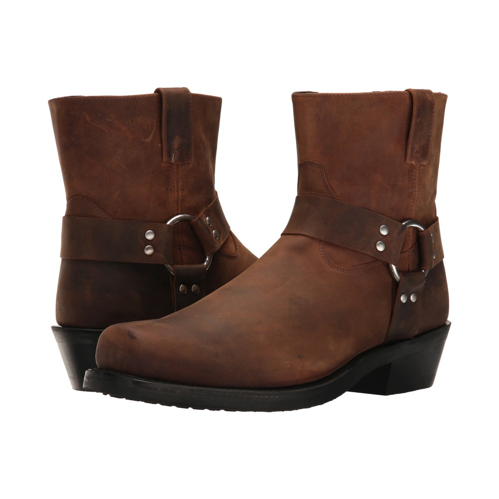 オールドウェスト ブーツ メンズ シューズ・靴 ブーツ【Short Harness Boot】Brown Distressed