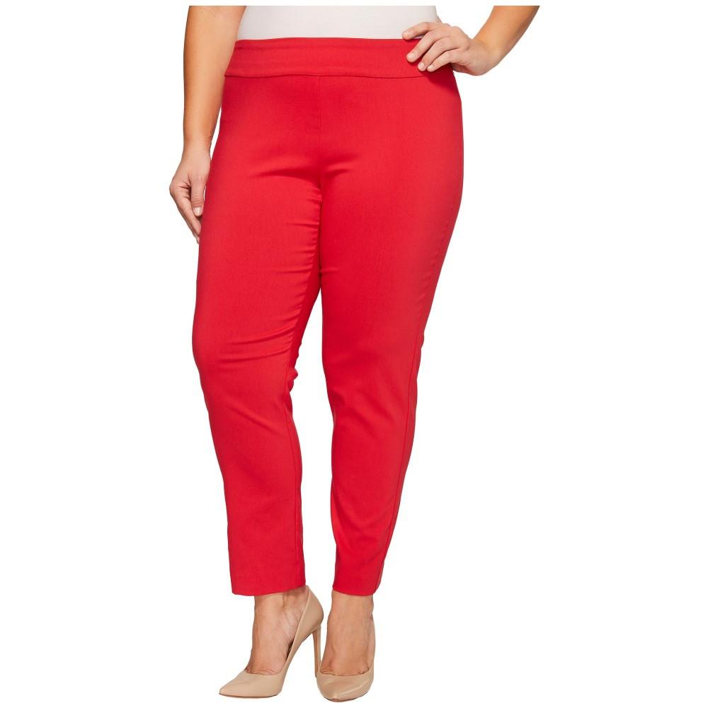 クレイジーラリー レディース ボトムス・パンツ【Plus Size Pull-On Ankle Pants】Red