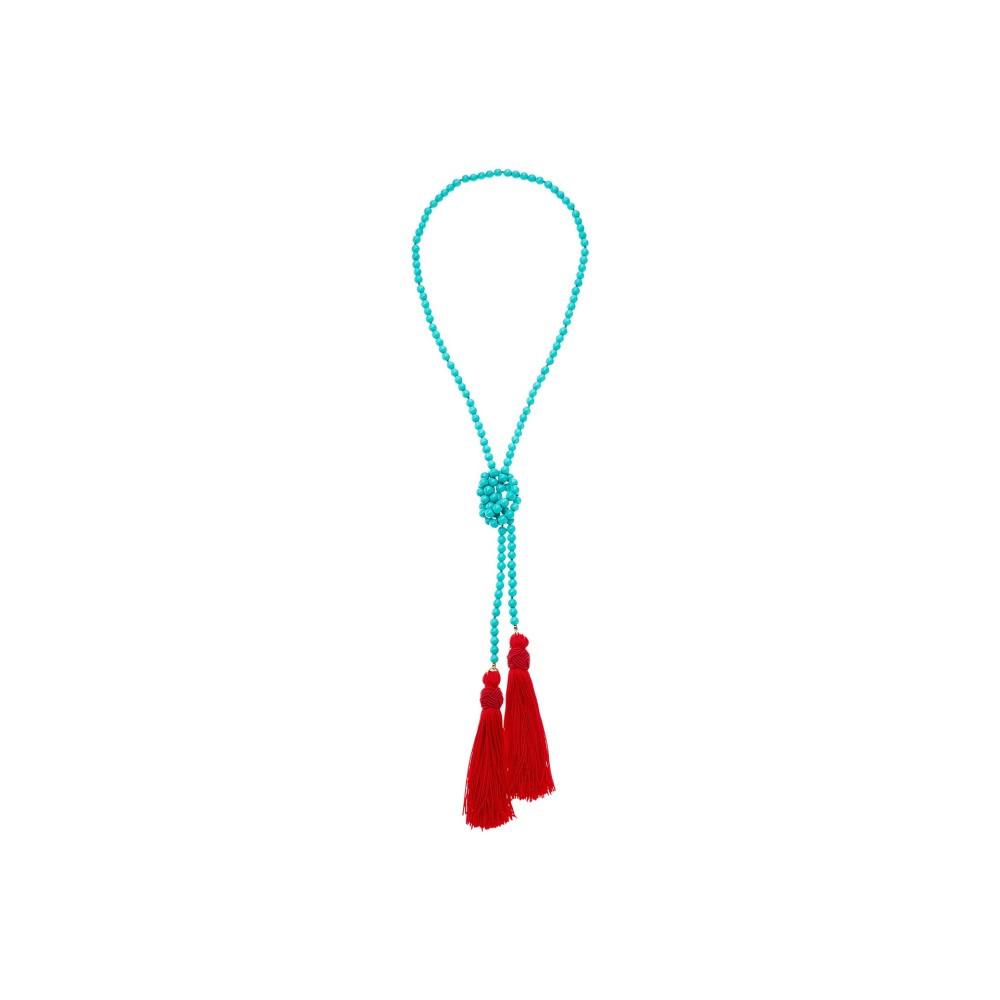 ケネスジェイレーン レディース ジュエリー・アクセサリー ネックレス【Turquoise Bead Neck w/ Red Tassels Necklace】Turquoise