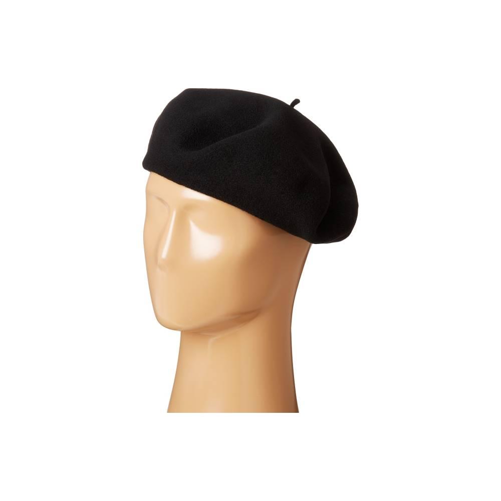 スカラ レディース 帽子 ハット【Wool Basque Beret】Black