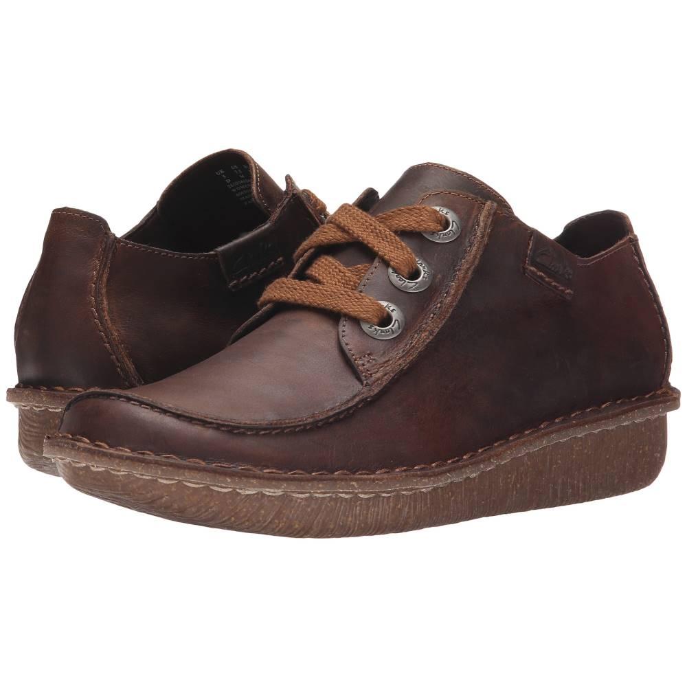 クラークス レディース シューズ・靴 ローファー・オックスフォード【Funny Dream】Brown Leather