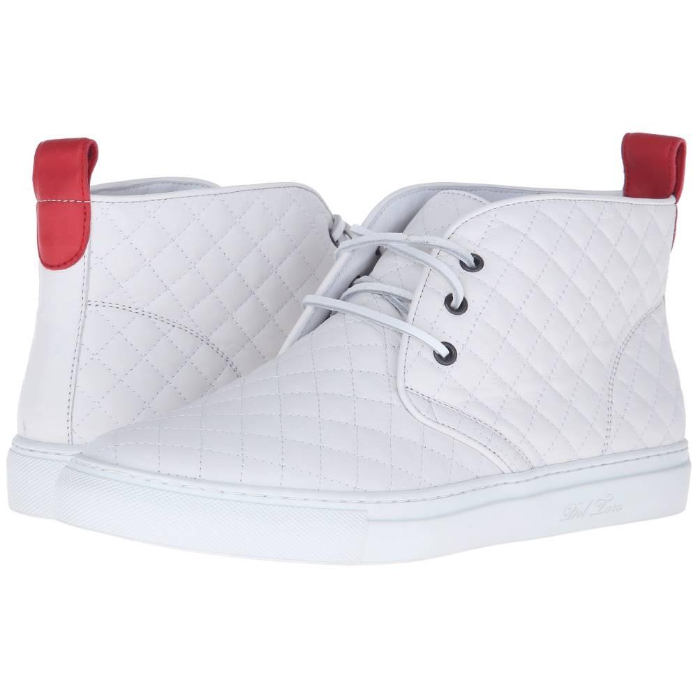デル トロ メンズ シューズ・靴 スニーカー【High Top Chukka Sneaker】White Quilted