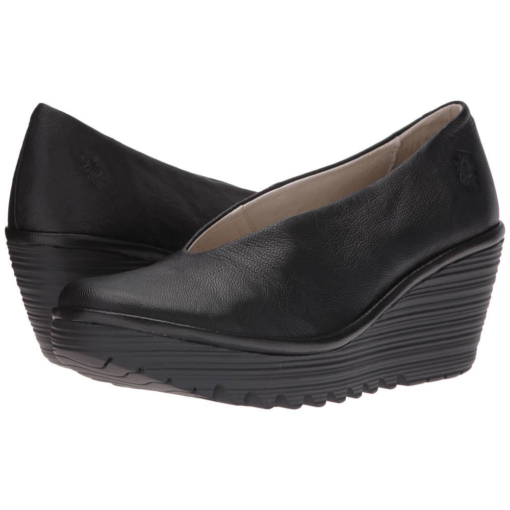 フライロンドン レディース シューズ・靴 ヒール【Yaz】Black Mousse
