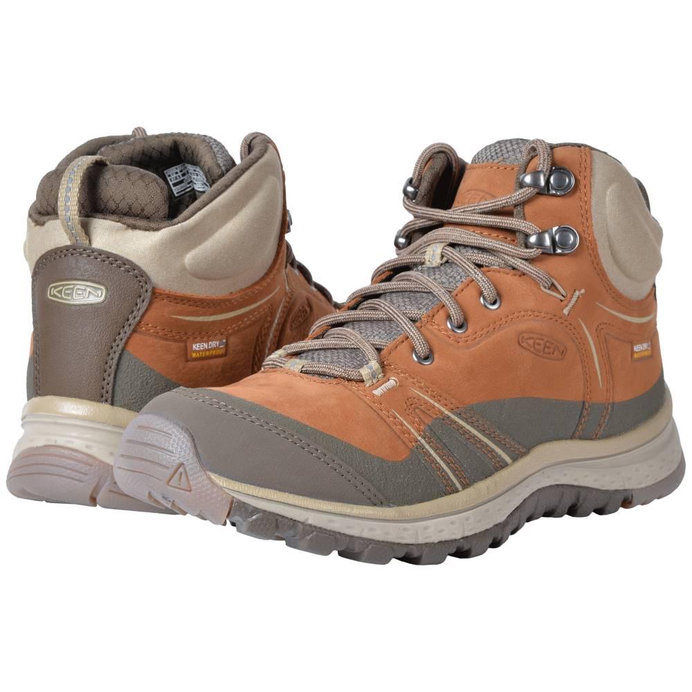 キーン レディース ハイキング・登山 シューズ・靴【Terradora Leather Mid Waterproof】Timber/Cornstalk