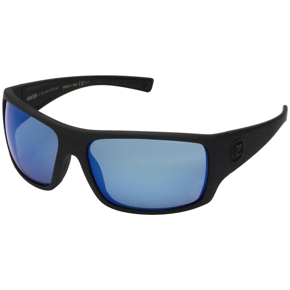 ボンジッパー メンズ ファッション小物 スポーツサングラス【Suplex Polarized】Black Satin/Wild Blue Chrome Glass Polar Plus