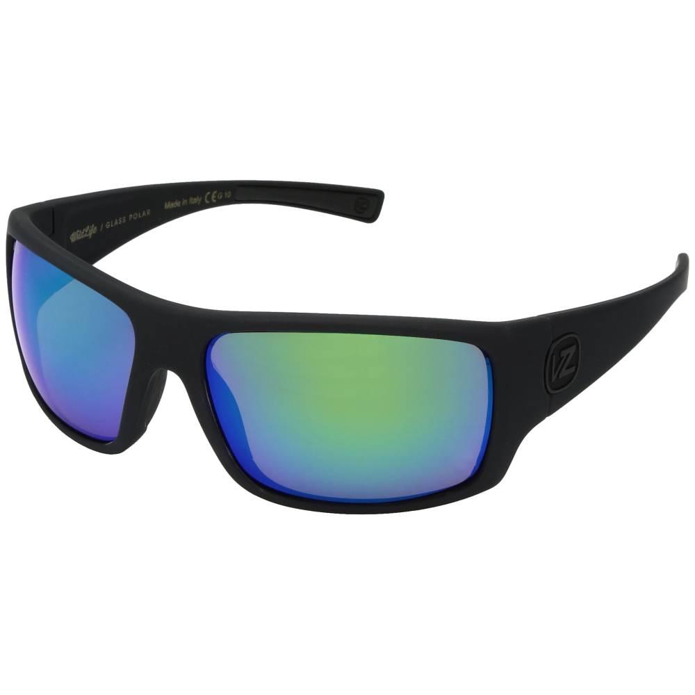 ボンジッパー メンズ ファッション小物 スポーツサングラス【Suplex Polarized】Black Satin/Wild Green Chrome Glass Polar